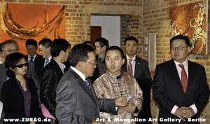 The President of Mongolia, Elbegdorj Tsakhia on Sunday, 03/10/2010